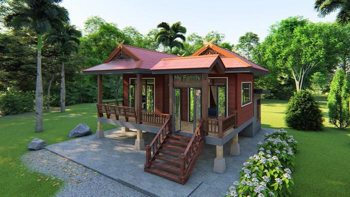 Half Concrete Half Wood House By Metha Khuaenpa 4