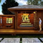 เรือนพักรับรอง ออกแบบด้วยโครงสร้างไม้ทั้งหลัง พร้อมทั้งหลังคารูปทรงปั้นหยา