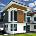 แบบบ้านสองชั้นสไตล์โมเดิร์น 3 ห้องนอน 3 ห้องน้ำ พร้อมสระน้ำและพื้นที่ใช้สอยกว้างขวาง