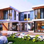 แบบบ้านสองชั้นสไตล์โมเดิร์น สวยสง่า ครบทุกฟังก์ชั่นการใช้งานบนพื้นที่ 265 ตารางเมตร ในราคาแค่สามล้านต้นๆ