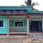 ปลูกบ้านโมเดิร์นชั้นเดียว สวยสดใสในโทนสีเขียวน้ำทะเล 2 ห้องนอน 1 ห้องน้ำ งบประมาณก่อสร้าง 520,000 บาท