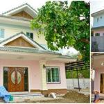 บ้านสองชั้นสไตล์คอนเทมโพรารี่ สวยเด่นด้วยโทนสีพาสเทล ให้บรรยากาศที่น่ารักอบอุ่น