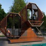 อาคารไม้สไตล์โมเดิร์น ขนาดกระทัดรัด ออกแบบเพื่อการพักผ่อนอย่างเป็นส่วนตัวได้ทุกที่ทุกเวลา