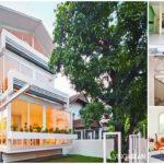 บ้านสไตล์โมเดิร์น ดีไซน์รูปทรงกล่อง และหลังคาทรงหน้าจั่ว ตกแต่งด้วยบรรยากาศที่น่ารักอบอุ่นแบบครอบครัว