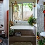 """24 ไอเดียตกแต่ง """"ห้องน้ำสไตล์โบโฮชิค"""" เปลี่ยนห้องน้ำธรรมดา ให้กลายเป็นห้องน้ำสุดแนว"""