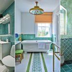 """25 ไอเดียตกแต่งห้องน้ำด้วย """"สีฟ้าน้ำทะเล"""" สร้างบรรยากาศการอาบน้ำด้วยโทนสีที่เงียบสงบและผ่อนคลาย"""