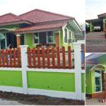 บ้านสไตล์ร่วมสมัยชั้นเดียว ดีไซน์โดดเด่น ตกแต่งด้วยโทนสีเขียวสะดุดตา