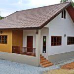 บ้านหน้าจั่วขนาดกะทัดรัด 2 ห้องนอน 1 ห้องน้ำพื้นที่พักผ่อนสำหรับชีวิตหลังวัยเกษียณ