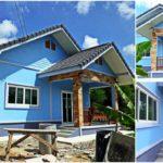 บ้านพอเพียงชั้นเดียว ตกแต่งน่าอยู่ในโทนสีฟ้า พร้อมพื้นที่พักผ่อนสำหรับครอบครัวเริ่มต้น