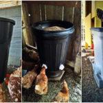 """22 ไอเดีย DIY """"ถังให้อาหารไก่"""" จากถังพลาสติกเหลือใช้ ทำเองง่ายๆ ช่วยประหยัดต้นทุน"""