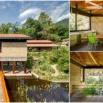 บ้านสวนอิฐเปลือยแนวโมเดิร์น ดีไซน์เรียบง่าย เน้นบรรยากาศกลมกลืนกับธรรมชาติ