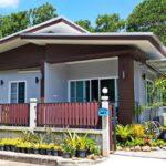 บ้านขนาดกะทัดรัดสไตล์โมเดิร์น 2 ห้องนอน 1 ห้องน้ำ พร้อมสวนสีเขียวชอุ่มหน้าบ้าน
