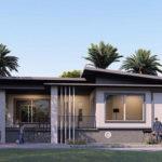 แบบบ้านชั้นเดียวสไตล์โมเดิร์น ดีไซน์บ้านยกพื้น พื้นที่ใช้สอย 160 ตารางเมตร เหมาะสำหรับครอบครัวเริ่มต้น