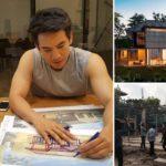 """ชมบ้านใหม่ """"โป๊ป ธนวรรธน์"""" ออกแบบเองเพื่อแม่และพี่สาว ลงเสาเข็ม-ขึ้นโครงสร้างแล้ว"""