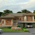 แบบบ้านสไตล์ไทยประยุกต์ รูปทรงยกพื้นสูง พร้อมการออกแบบสุดโดดเด่น