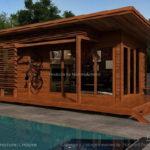 บ้านไม้สำเร็จรูปขนาดกะทัดรัด ออกแบบเพื่อเป็นพื้นที่พักผ่อนสำหรับความเป็นส่วนตัวในราคาประหยัด