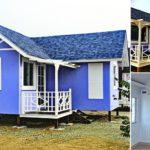 บ้านหลังเล็กสไตล์รีสอร์ท โครงสร้างน็อคดาวน์ยกพื้น พื้นที่ใช้สอย 31 ตร.ม. งบก่อสร้างไม่เกิน 5 แสนบาท