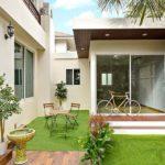 ต่อเติมบ้านในสวนด้วย บ้านน็อคดาวน์โครงสร้างเหล็ก พื้นที่ 46 ตร.ม. งบประมาณ 499,000 บาท