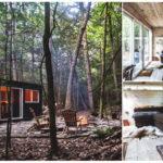 กระท่อมจากตู้คอนเทนเนอร์ ดีไซน์ในสไตล์รัสติก ตั้งอยู่ท่ามกลางป่าอันเงียบสงบ