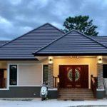 บ้านสไตล์คอนเทมโพรารี 3 ห้องนอน 2 ห้องน้ำ พร้อมเฉลียงพักผ่อนรอบบ้าน ในพื้นที่ขนาด 170 ตารางเมตร