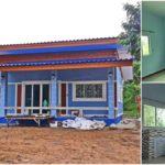 บ้านชั้นเดียวสไตล์โมเดิร์น โดดเด่นด้วยโทนสีฟ้า บนพื้นที่ใช้สอยขนาด 82 ตารางเมตร
