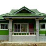 บ้านชั้นเดียวสไตล์ร่วมสมัย 3 ห้องนอน 2 ห้องน้ำ ตกแต่งสะดุดตาในโทนสีเขียวสด