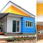 บ้านสไตล์โมเดิร์นกะทัดรัด โดดเด่นในโทนสีฟ้า ภายใต้งบประมาณ 450,000 บาท