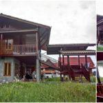 บ้านไม้กึ่งปูนสองชั้น 4 ห้องนอน 4 ห้องน้ำ พร้อมศาลาพักผ่อนชมวิวริมน้ำ
