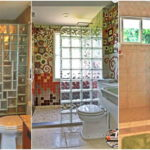 """32 ไอเดีย """"ฉากบล็อกแก้วกั้นห้องน้ำ"""" จัดสรรพื้นที่เป็นสัดส่วน เพิ่มความสวยงามให้ห้องน้ำดูน่าใช้งาน"""