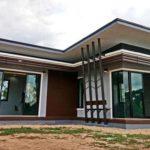 บ้านชั้นเดียวสไตล์โมเดิร์น ออกแบบรูปตัวแอล ครบครันน่าอยู่ในพื้นที่ 70 ตารางเมตร