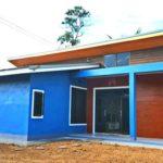 บ้านสไตล์โมเดิร์นชั้นเดียว 2 ห้องนอน 1 ห้องน้ำ ตกแต่งโดดเด่นด้วยโทนสีฟ้า