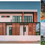 บ้านสไตล์โมเดิร์น ดีไซน์เรียบง่ายในโทนสีขาว พร้อมสระว่ายน้ำส่วนตัว ขนาด 3 ห้องนอน 4 ห้องน้ำ (มีแบบแปลนภายใน)