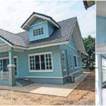 บ้านแนวอิงลิชคันทรี่ ดีไซน์มีเอกลักษณ์ เน้นโทนสีฟ้าสบายตา 2 ห้องนอน 2 ห้องน้ำ