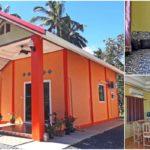 บ้านชั้นเดียวแนวร่วมสมัย โดดเด่นด้วยโทนสีส้ม พร้อมพื้นที่พักผ่อนสำหรับคู่รัก