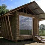 กระท่อมไม้สไตล์คันทรี ออกแบบผนังด้วยหญ้าแห้ง ไอเดียบ้านหลังน้อยสำหรับพักผ่อนในบรรยากาศบ้านทุ่ง