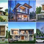 20 แบบบ้านสองชั้นสไตล์โมเดิร์น หลากหลายไอเดียเพื่อคนฝันอยากมีบ้านดีไซน์ทันสมัย