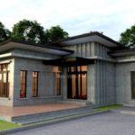 แบบบ้านสไตล์โมเดิร์นลอฟท์ รูปทรงตัวแอล (L-Shape) 3 ห้องนอน 4 ห้องน้ำ พร้อมเฉลียงรับลมนอกบ้าน