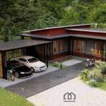 แบบบ้านแนวโมเดิร์นลอฟท์ พื้นที่ใช้สอยครบครัน พร้อมโรงจอดรถ เหมาะสำหรับครอบครัวเริ่มต้น