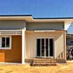 บ้านชั้นเดียวขนาดกะทัดรัด ตกแต่งโทนสีเหลืองมัสตาร์ด พร้อมพื้นที่พักผ่อน 2 ห้องนอน สำหรับครอบครัวเริ่มต้น
