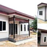 บ้านสไตล์โมเดิร์นขนาดพอเหมาะ  2 ห้องนอน 1 ห้องน้ำ ก่อสร้างด้วยงบสบายกระเป๋า 350,000 บาท