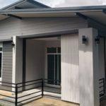 บ้านสไตล์โมเดิร์นกะทัดรัด สวยเด่นด้วยหลังคาทรงปีกนก 2 ห้องนอน 2 ห้องน้ำ