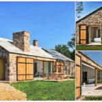 บ้านสไตล์รัสติก ดีไซน์บ้านรูปทรงยาว สวยงามและมีเอกลักษณ์ด้วยโครงสร้างหินธรรมชาติ
