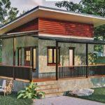แบบบ้านยกพื้นสไตล์โมเดิร์นลอฟท์ 1 ห้องนอน 1 ห้องน้ำ พื้นที่ใช้สอย 55 ตารางเมตร พร้อมเฉลียงรับลมทรงตัวแอล