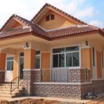 แบบบ้านชั้นเดียวทรงยกสูง สไตล์ร่วมสมัย 3 ห้องนอน 2 ห้องน้ำ พื้นที่ใช้สอย 136 ตารางเมตร