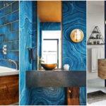 """25 ไอเดีย ดีไซน์ห้องน้ำใน """"โทนสีฟ้า"""" ออกแบบบรรยากาศเย็นสบายตา เพื่อความผ่อนคลาย"""