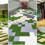 """40 ไอเดีย """"บล็อกปลูกหญ้า"""" สำหรับตกแต่งพื้นนอกบ้านให้โดดเด่นสวยงาม"""