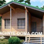 แบบบ้านไม้คอทเทจยกพื้นขนาด 2 ห้องนอน ดีไซน์เรียบง่าย ขนาดกะทัดรัด ก่อสร้างได้บนพื้นที่แคบ