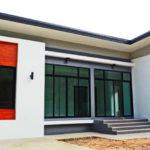 แบบบ้านทรงเหลี่ยมสไตล์โมเดิร์น 3 ห้องนอน 2 ห้องน้ำ พร้อมพื้นที่ใช้สอย 80 ตารางเมตร