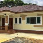 บ้านชั้นเดียวสไตล์คอนเทมโพรารี 3 ห้องนอน 2 ห้องน้ำ พร้อมโรงจอดรถ งบก่อสร้าง 990,000 บาท