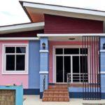 บ้านสไตล์โมเดิร์น 2 ห้องนอน 1 ห้องน้ำ สีสันสดใสน่าอยู่ พร้อมมุมพักผ่อนสบายๆ หน้าบ้าน